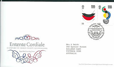 GB 2004 Entente Cordiale set on Royal Mail first day cover