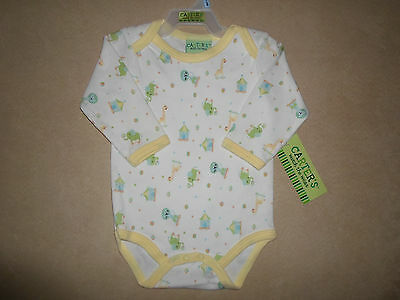 Carter's Baby Boy/Girl 3-6 Months One-Piece Long Sleeve Bodysuit, NEW WITH TAGS!