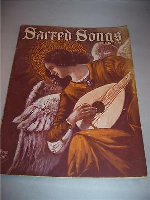 Sacred Songs Sheet Music Song Book Academic Edition for Piano & Organ Antique