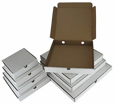 Pizza Boxes ☆ Takeaway Fast Food Cake Packaging White ☆ Size Range: 7 - 16 Inch