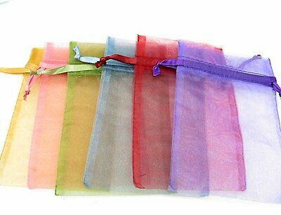 Organza Gift Bags Jewellery Pouches Wedding Party Favour 7x9 8x12 10x15 cms