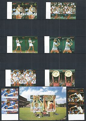 Grenadines Of St. Vincent 1988 Tennis Block Paar Pairs Set Imperf **