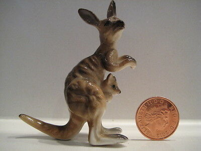 Bone China Porcelain Kangaroo And Joey In Pouch Detailed
