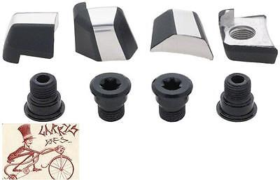 Shimano Xtr M980 Black Bicycle Middle Chainring Bolt And Cap Set Of 8