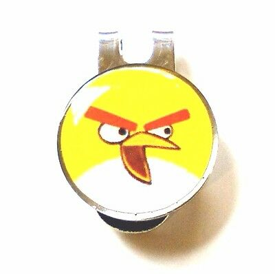 anneys - Combo golf ball marker & hat clip** angry bird yellow **