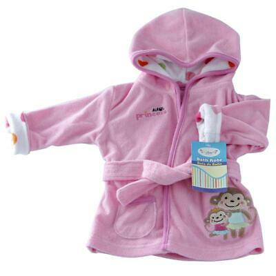 NEW Superior Quality Baby Girl Hooded Terry Towel baby Bath Robe 0-12 month