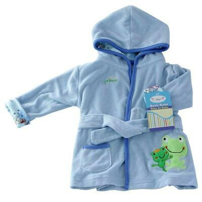 NEW Superior Quality Baby Boy Hooded Terry Towel baby Bath Robe 0-12 month