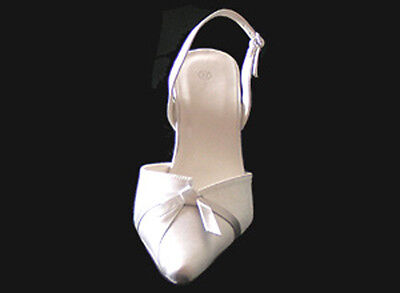 Designer Ivory Satin Shoes - Dance, Evening, Wedding Shoes UK 8 BNIB