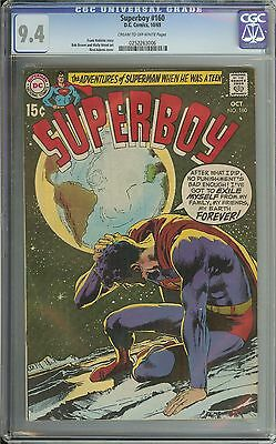 Superboy #160 Cgc 9.4 Cr/ow Pages // Neal Adams Cover
