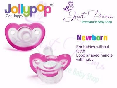 Jollypop Dummy ~ the new Gumdrop ~ Newborn Pink