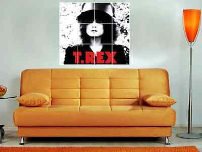 """T-Rex 36""""X32"""" Inch Mosaic Wall Poster The Slider Glam Rock Marc Bolan"""
