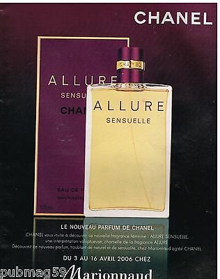 Publicité Advertising 2006 Parfum Allure Sensuelle de Chanel