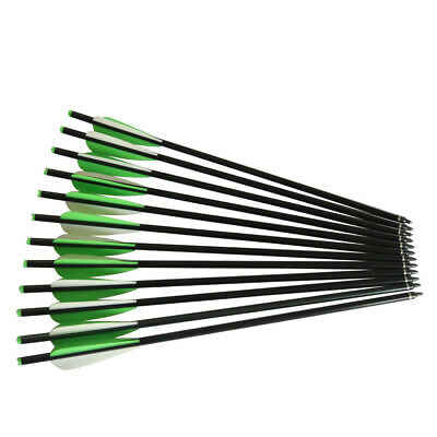 12) 22 inch Aluminum Alloy crossbow arrow bolts completed arrows for hunting