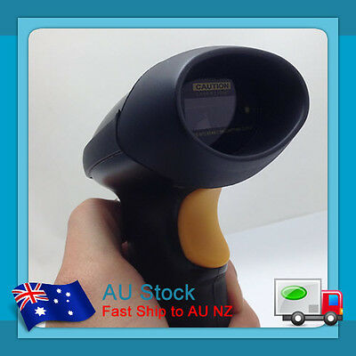 A Black New USB Port Laser Barcode Scanner Bar Code Reader Decoder for Computer