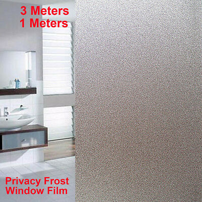 1m/3m Home Office Window Film Sticker Glass Privacy Frosted Vinyl Sticky Paper