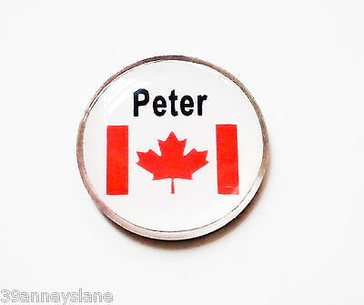 anneys - your OWN PERSONALISED  ** Canadian flag ** golf ball marker!!