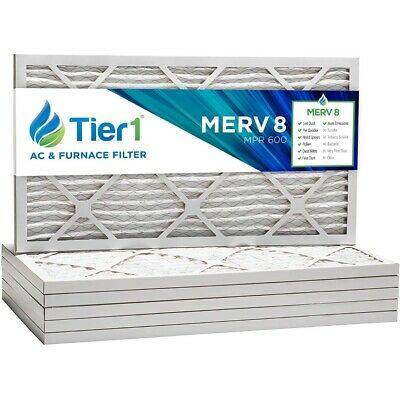 16x25x1 Dust & Pollen Merv 8 Tier1 Pleated Replacement Air Filter 6 Pack
