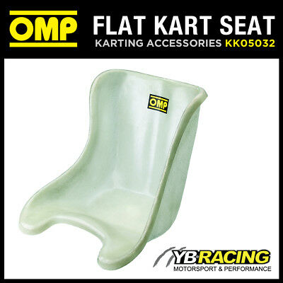 Kk05032 Omp Fibreglass Karting Plastic Seat White With Flat Bottom Design