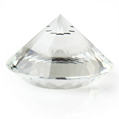 80mm Clear Crystal Diamond Cut Shape Paperweight Glass Gem Display Gift Ornament