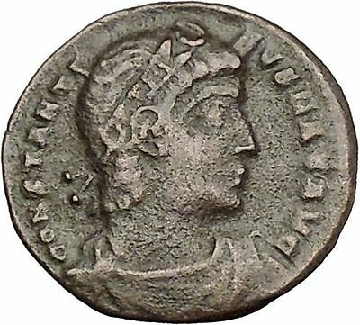 Constantine I The Great 330AD Ancient Roman Coin Glory of Arny Legions i50710