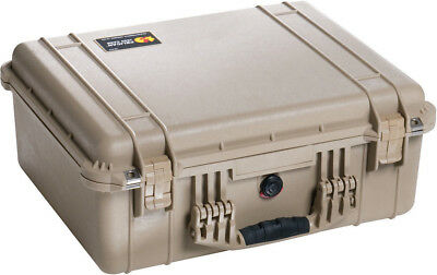 New Desert Tan Pelican 1550 case empty includes FREE engraved name