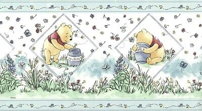 WINNIE THE POOH Wallpaper Border Blue Kids Nursery Children Disney DF059103B