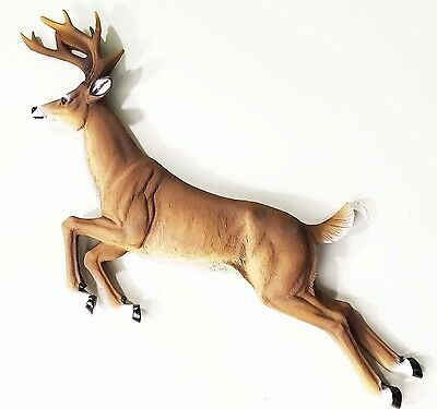 "Galloping Deer Buck Hanging Wall Plaque Decor Figurine Statue Large 19"" Long"
