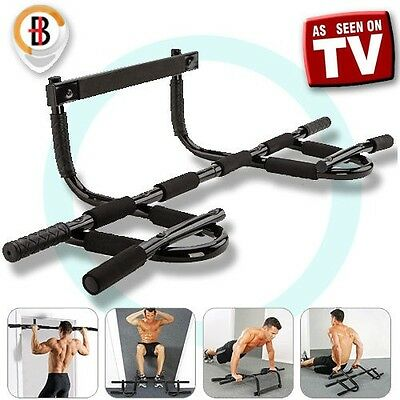 New Portable Chin Up Bar Home Door Pull Up Dip Abs Exercise Doorway Wall Mounted