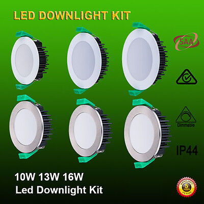 12 X 10W/13W Led Downlight Kit Dimmable & Non Dim Warm/ Daylight White Ip44