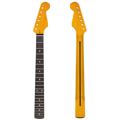 Yellow 22 Fret Electric Guitar Neck Maple Rosewood Fretboard For ST Replacement