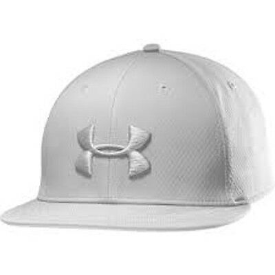 UNDER ARMOUR Elevate Stretch Fit Baseball Tennis Golf Cap- White REDUCED(103004)