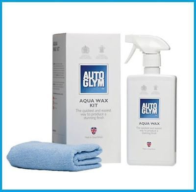 Autoglym Aqua Wax Kit 500ml with 2 Micro Fibre Cloths - Car Bodywork - Free P+P