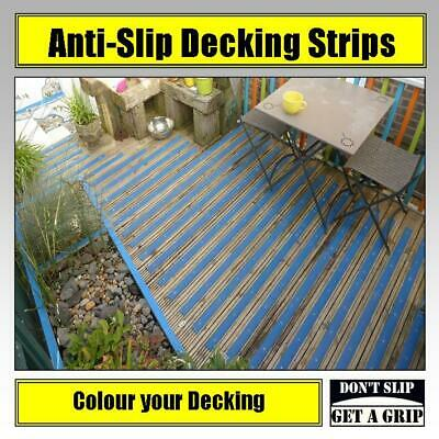 Anti Slip Decking Strips - Non Slip Grip for Timber Decking Pack of 30 x 600mm
