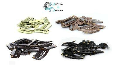 10/50/100 32mm Clips For DIY Clip In Hair Extensions -Black/Brown/Blonde