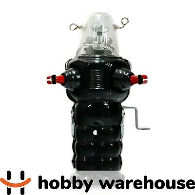 Black Retro Vintage Tin Robby the Robot Windup Toy