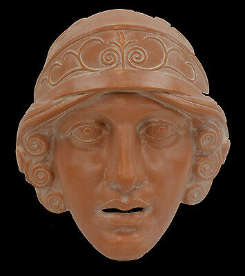 Athena Goddess Ceramic Mask - Ancient Greek Theatre - Protector Of Athens