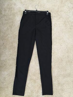 Forever 21 Black Side Lace Up High Waist Pants Size Xs 8 99