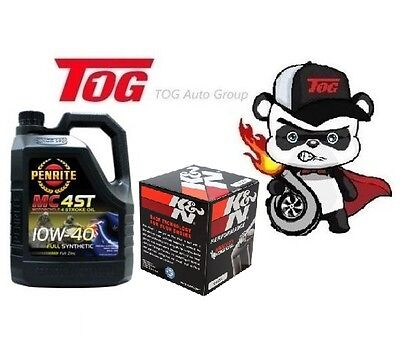 Penrite Mc-4St 4 Stroke Full Synthetic 10W-40 Motorcycle Oil 4 Litre + Kn-204