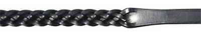 Ascot Dever English Leather Plaited Reins- Black / Brown-Full & Pony Size