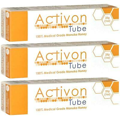 Activon Tube Medical Grade Manuka Honey 25g - 3 Pack