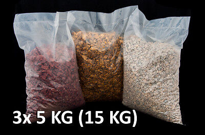 15KG Decorative Coloured Shingle Stone Chippings 10mm for Garden Hobby Colour