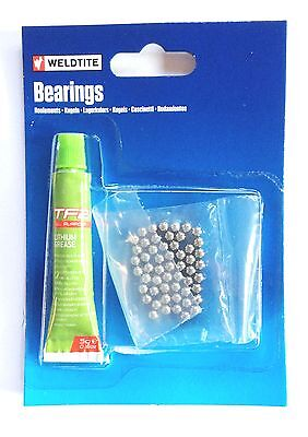Weldtite Cycle-Bike-Bicycle Ball Bearings 1/4 1/8 5/32 7/32 3/16 With Tf2 Grease