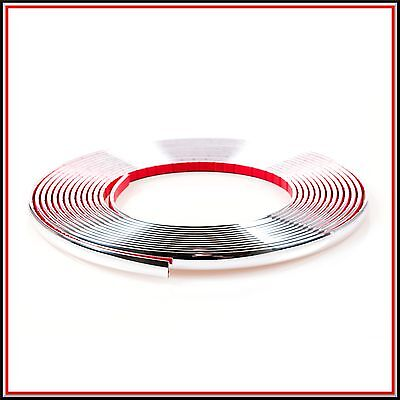 1 meter 9mm Chrome Car Styling Moulding Strip Trim Adhesive in roll