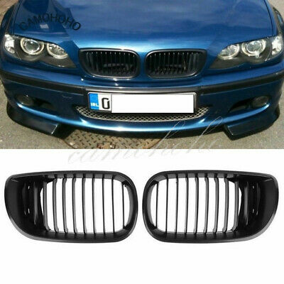 Black Kidney Front Grille for BMW E46 3 Series 4 DOOR 4D 2002-2005 LCI Facelift