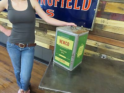 Newco Rare Square Gas Oil Station Advertising Sign 5 Gallon Can