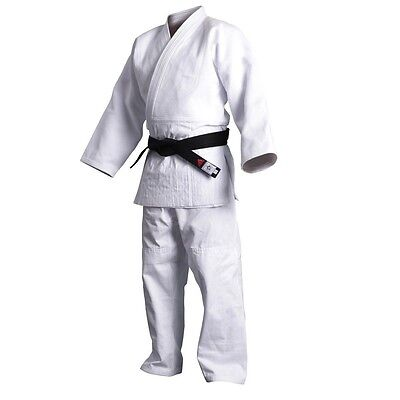 New adidas Judo Training White Gi Uniform Single Weave 100% Cotton-J500