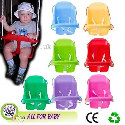 BABY PLASTIC SWING  with SAFETY  HERNES  ,ROPE
