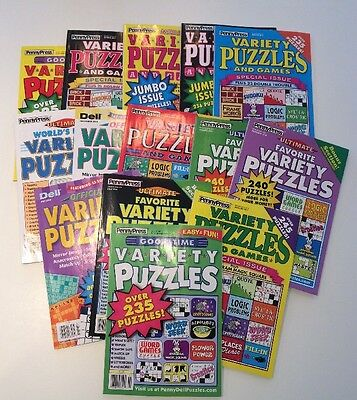 Lot of 5 Penny Press Variety Puzzle Books DELL **FAST SHIPPING* 2018 And Newer