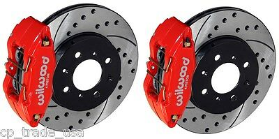 Wilwood Forged Front Brake Kit 90-01 Acura Integra Da Dc2 140-12996-Dr (Red)