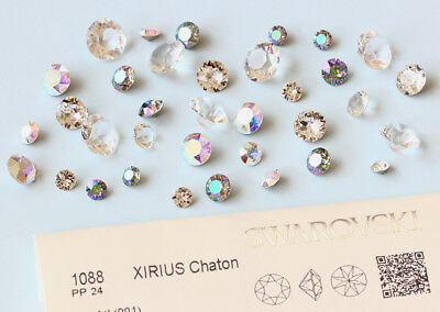 Genuine SWAROVSKI 1028 & 1088 Chatons Round Stones * Crystal Color with Effects